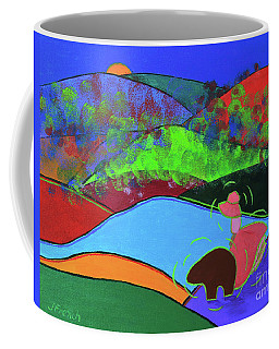 Girl And A Guardian Bear Coffee Mug