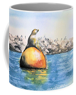Girl And Buoy Coffee Mug