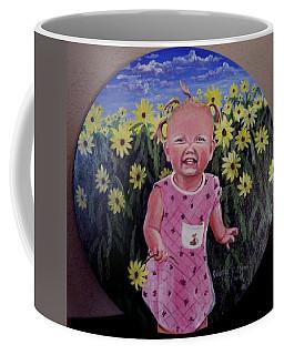 Girl And Daisies Coffee Mug