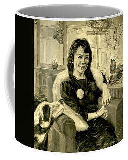 Girl And Dog Coffee Mug