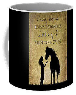 Girl And Horse Silhouette Coffee Mug