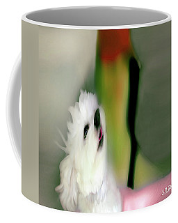 Girl And Puppy Painting  6 Coffee Mug