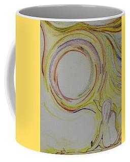 Girl And Universe Creative Connection Coffee Mug