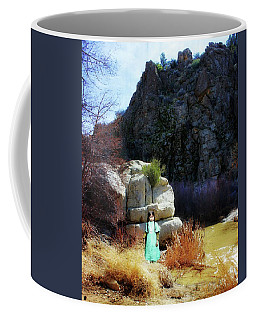 Girl At Piru Creek Coffee Mug