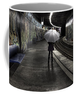 Girl At Subway Station Coffee Mug