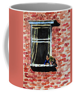 Girl At Window Coffee Mug