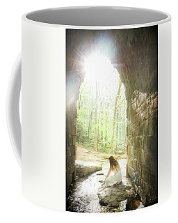 Coffee Mug featuring the photograph Girl By The Stream In The Castle by Kelly Hazel