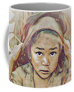 Girl Carrying Firewood In Nepal Coffee Mug