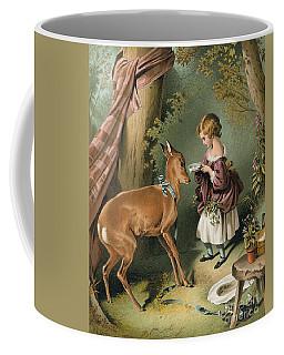 Girl Feeding A Deer Coffee Mug