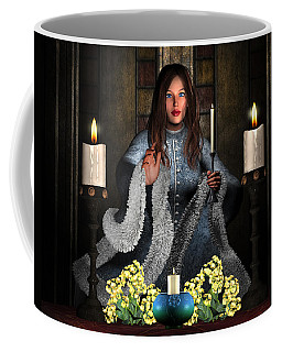 Girl Holding Candle Coffee Mug