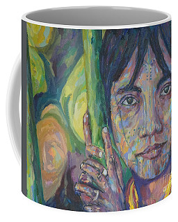 Girl In A Bamboo Forest Coffee Mug by Michael Cinnamond