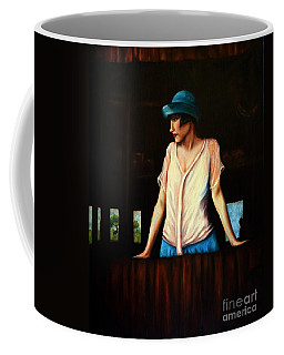 Girl In A Barn Coffee Mug