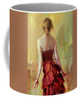 Girl In A Copper Dress I Coffee Mug