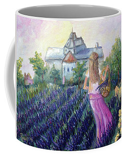 Girl In A Lavender Field  Coffee Mug