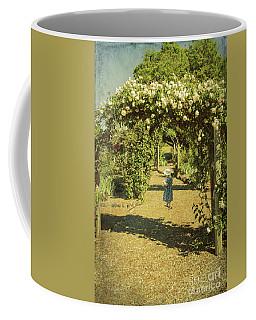 Girl In A Rose Garden Coffee Mug