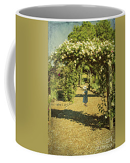 Girl In A Rose Garden Coffee Mug