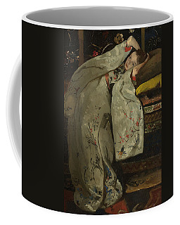 Girl In A White Kimono Coffee Mug