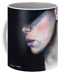 Girl In Black Hat Coffee Mug