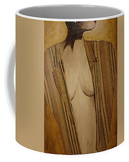 Girl In Man's Shirt Coffee Mug