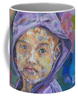 Burma Girl In Purple Coffee Mug by Michael Cinnamond