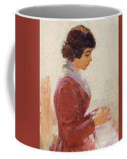 Girl In Red, Sewing Coffee Mug