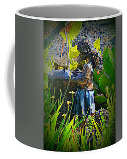 Girl In The Garden Coffee Mug