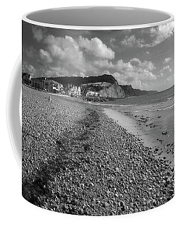 Girl On Sidmouth Beach Coffee Mug