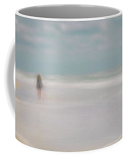 Girl On The Beach Coffee Mug