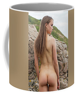 Girl On The Rocks Coffee Mug