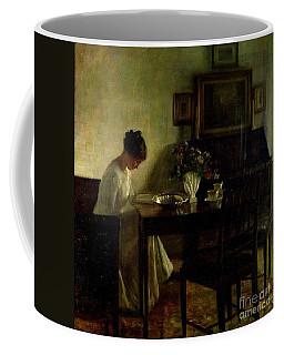 Girl Reading In An Interior  Coffee Mug