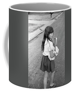 Girl Returns Home From School, 1971 Coffee Mug
