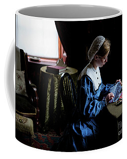 Girl Sewing Coffee Mug