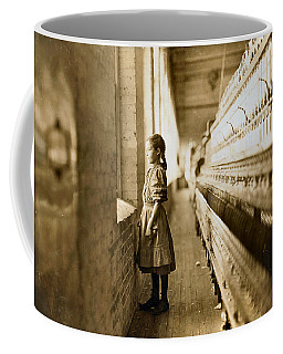 Girl Spinner 11 Years Old Rhodes Manufacturing Co Lincolnton 1908 Coffee Mug