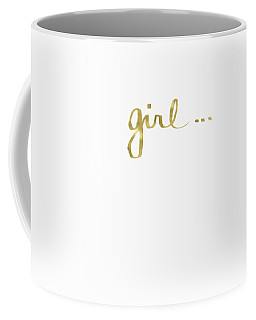 Girl Talk Gold- Art By Linda Woods Coffee Mug