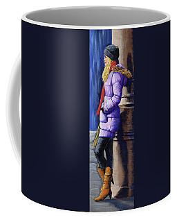 Girl Waiting Coffee Mug