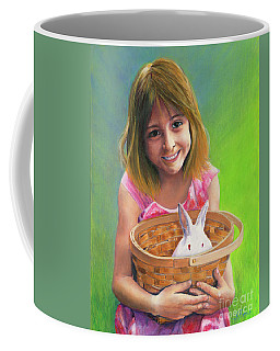 Girl With A Bunny Coffee Mug