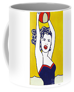 Girl With Ball - Pop Art - Roy Lichtenstein Coffee Mug