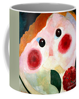 Coffee Mug featuring the painting Girl With Buttercups by Pg Reproductions
