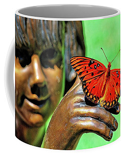 Girl With Butterfly Coffee Mug