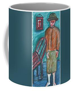 Girl With Chair Coffee Mug