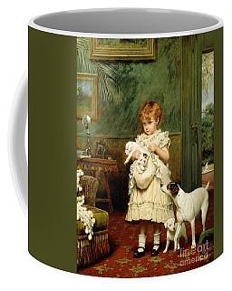 Girl With Dogs Coffee Mug