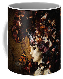 Girl With Flower Hat Coffee Mug