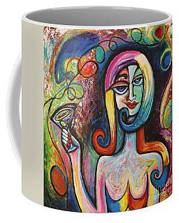 Girl With Martini Cocktail Abstract Coffee Mug
