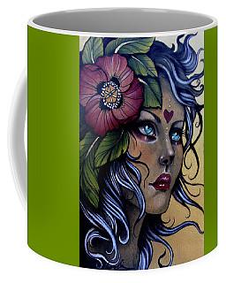 Girl With Poppy Flower Coffee Mug