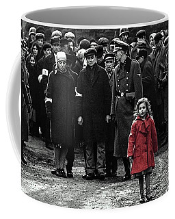 Girl With Red Coat Publicity Photo Schindlers List 1993 Coffee Mug