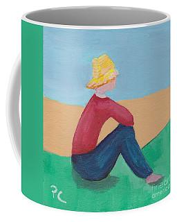 Girl With Straw Hat Coffee Mug