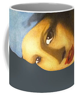 Coffee Mug featuring the painting Girl With The Pearl Earring Side by Jayvon Thomas