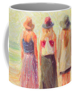 Girlfriends At The Beach Coffee Mug