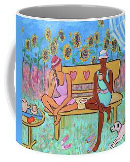Coffee Mug featuring the painting Girlfriends' Teatime IIi by Xueling Zou