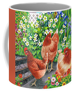 Coffee Mug featuring the painting Girls Day Out. by Val Stokes